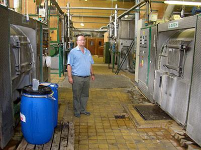 ハンガリー産羽毛の洗浄機