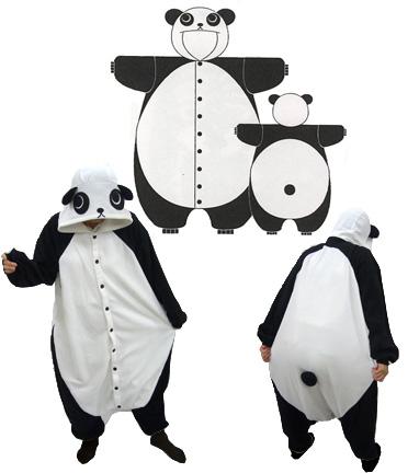 パンダの着ぐるみパジャマ